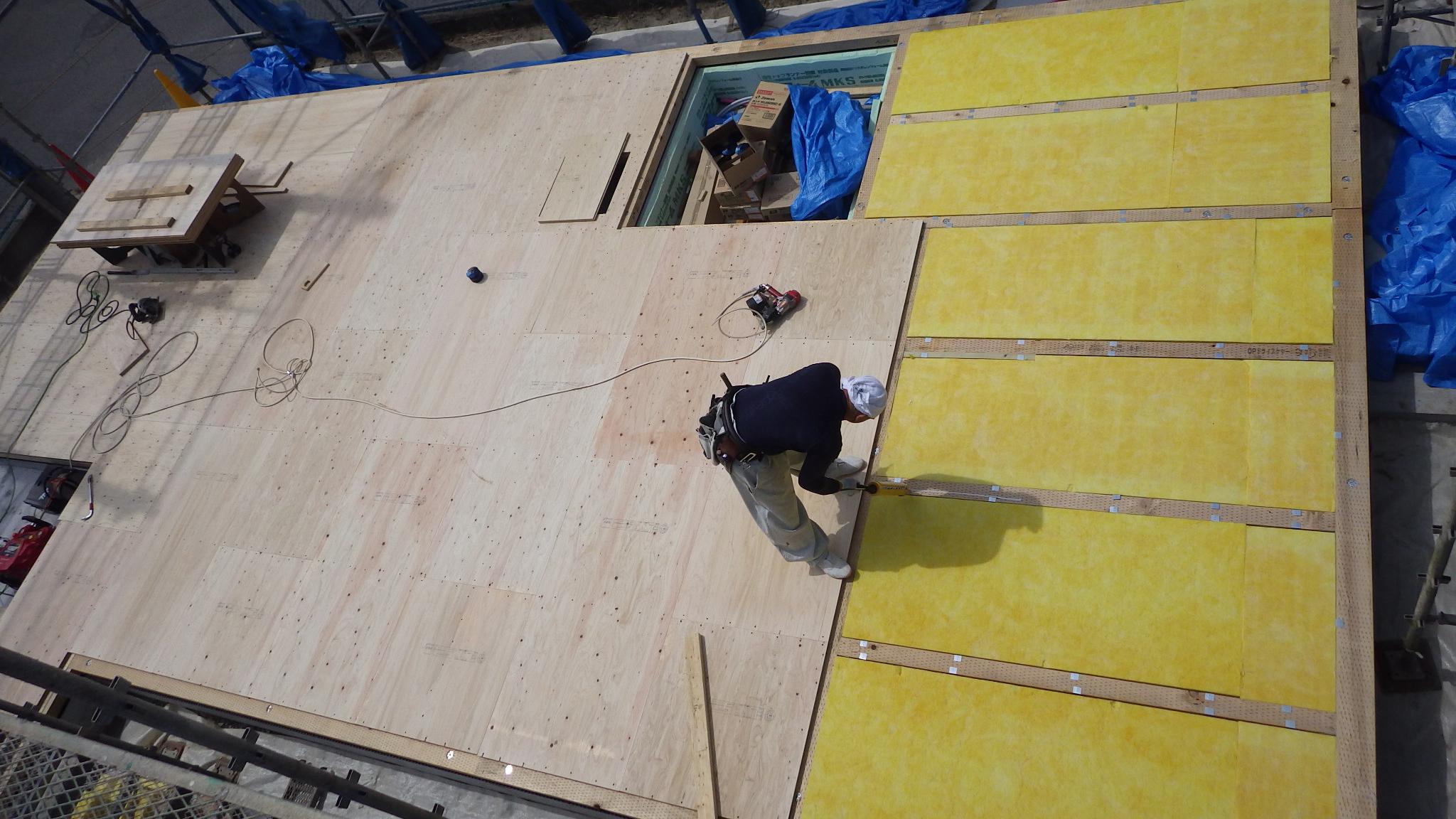 漆喰塗り壁のかわいいお家 土台敷き工事4