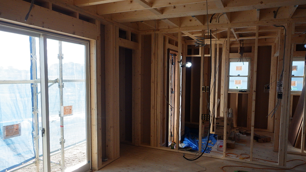 漆喰仕上げのキュートなお家 内装工事3