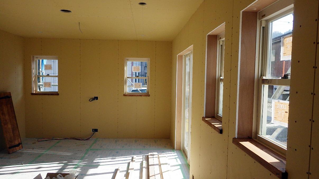 自然素材の漆喰外壁のお家 内装工事11