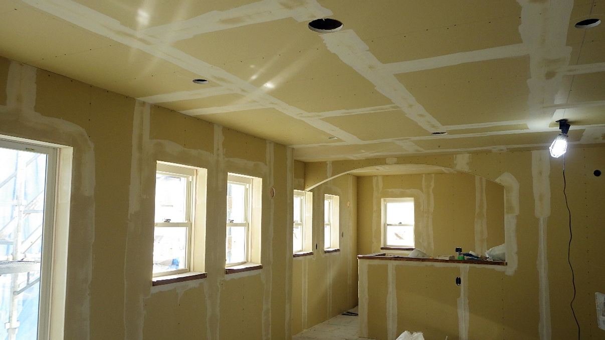 自然素材の漆喰外壁のお家 内装工事13