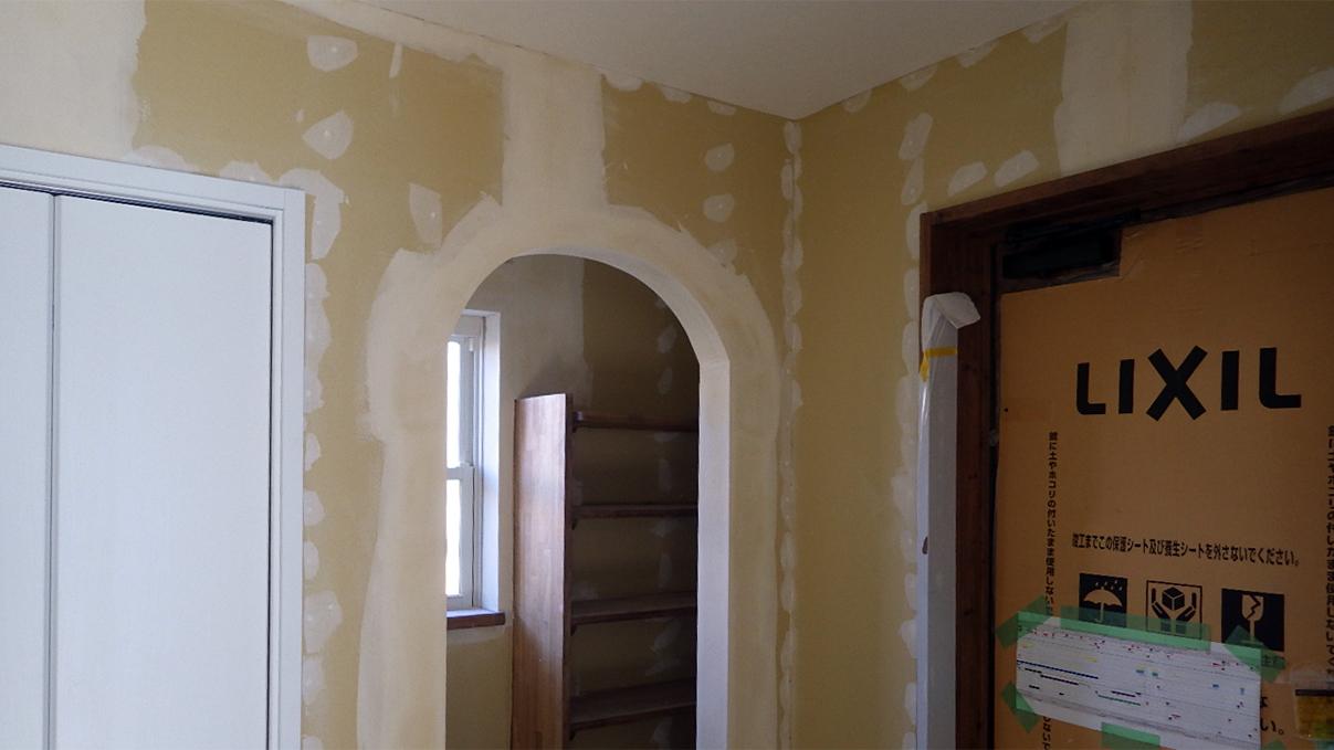 自然素材の漆喰外壁のお家 内装工事15