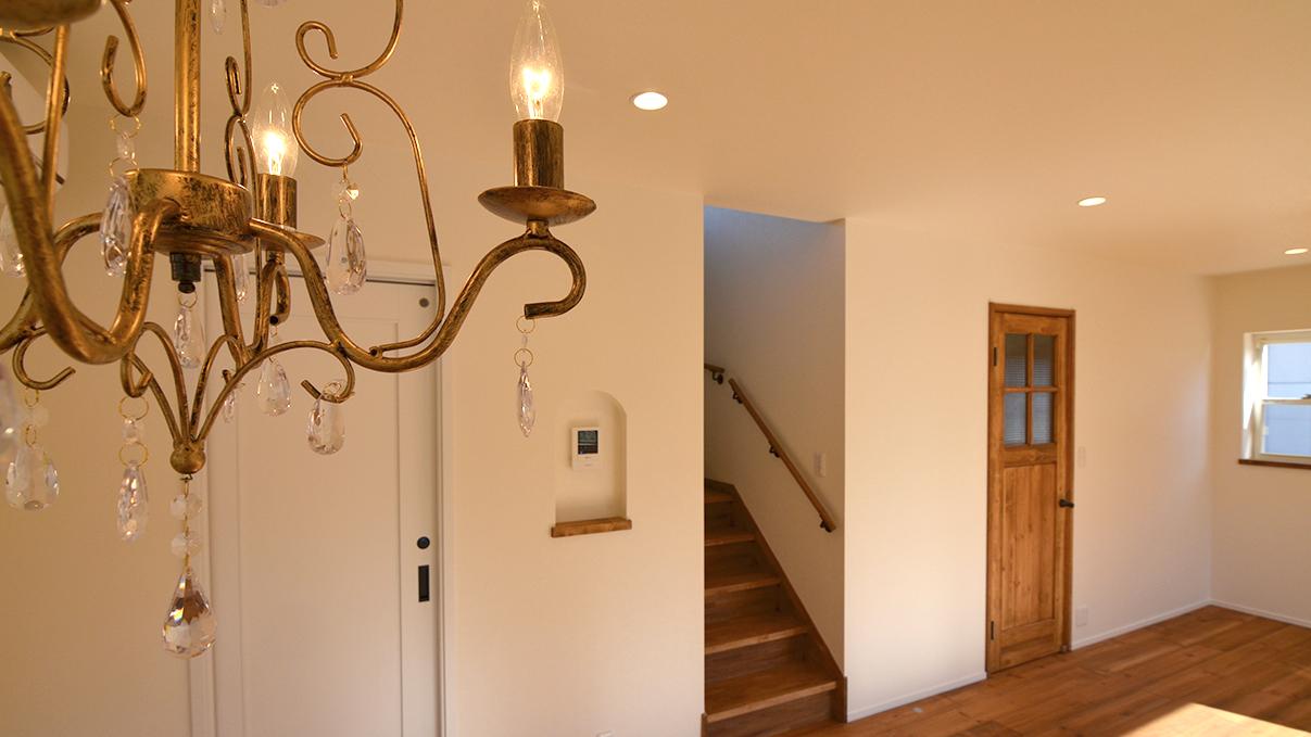 自然素材の漆喰外壁のお家 リビング2