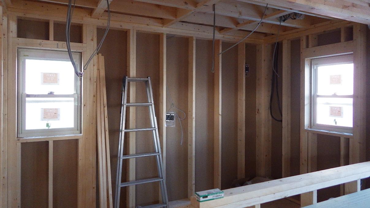 自然素材にこだわるお家 内装工事2