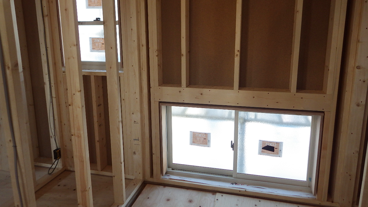 自然素材にこだわるお家 内装工事3