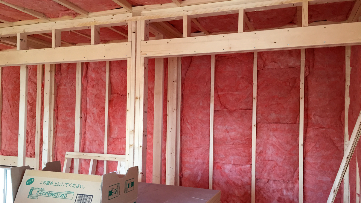 自然素材にこだわるお家 内装工事6