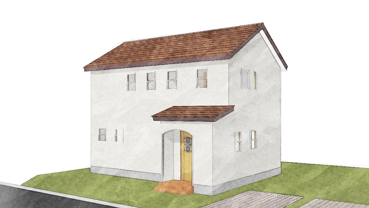 漆喰と極厚フローリングのカワイイお家