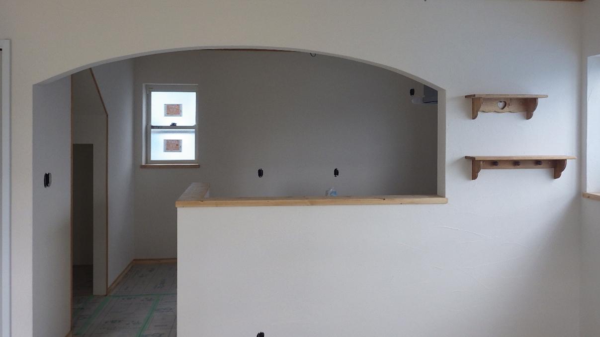 自然素材にこだわるお家 内装工事17