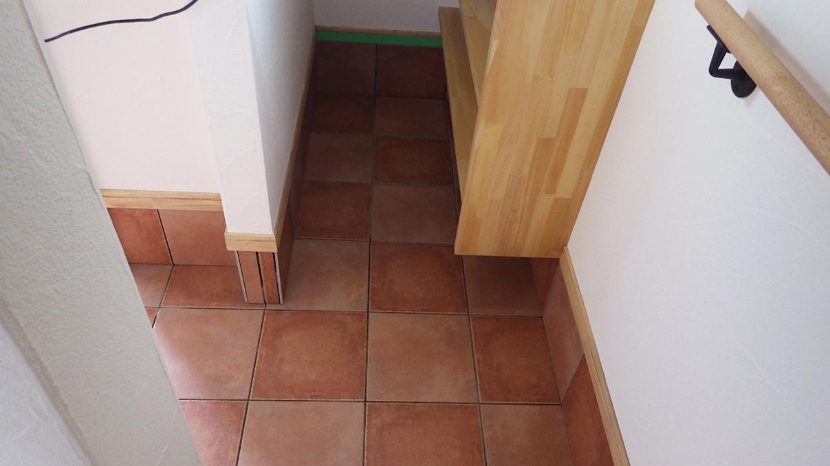 自然素材にこだわるお家 内装工事19