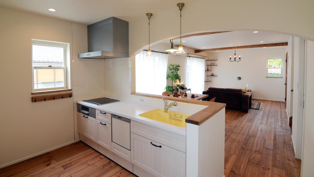 猫ちゃんが快適に住めるカワイイお家 キッチン