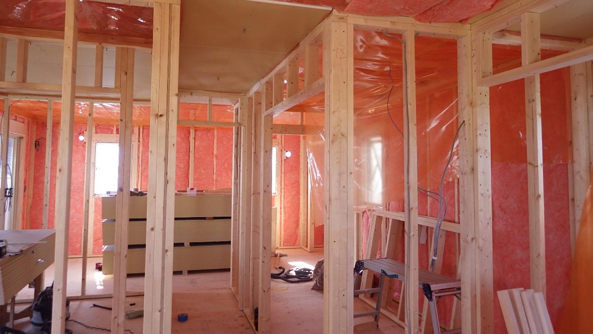 大好きな自然素材の漆喰のこだわりのお家 内装工事6