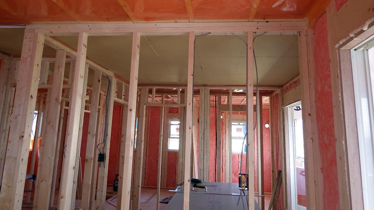 大好きな自然素材の漆喰のこだわりのお家 内装工事7
