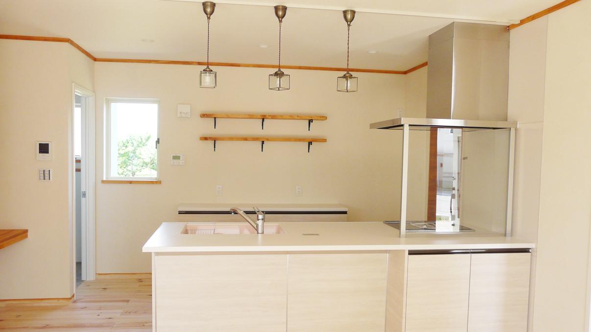 大好きな自然素材の漆喰がこだわりのかわいい家 内装仕上げ3