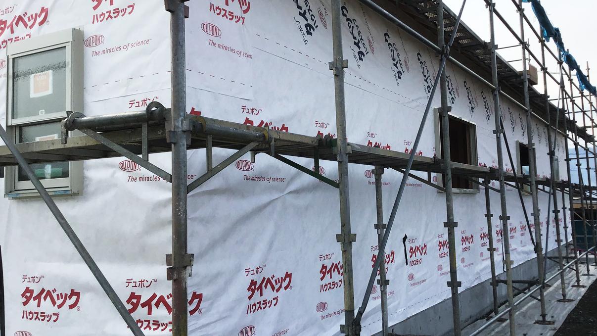 広々フラットハウス 外装工事2