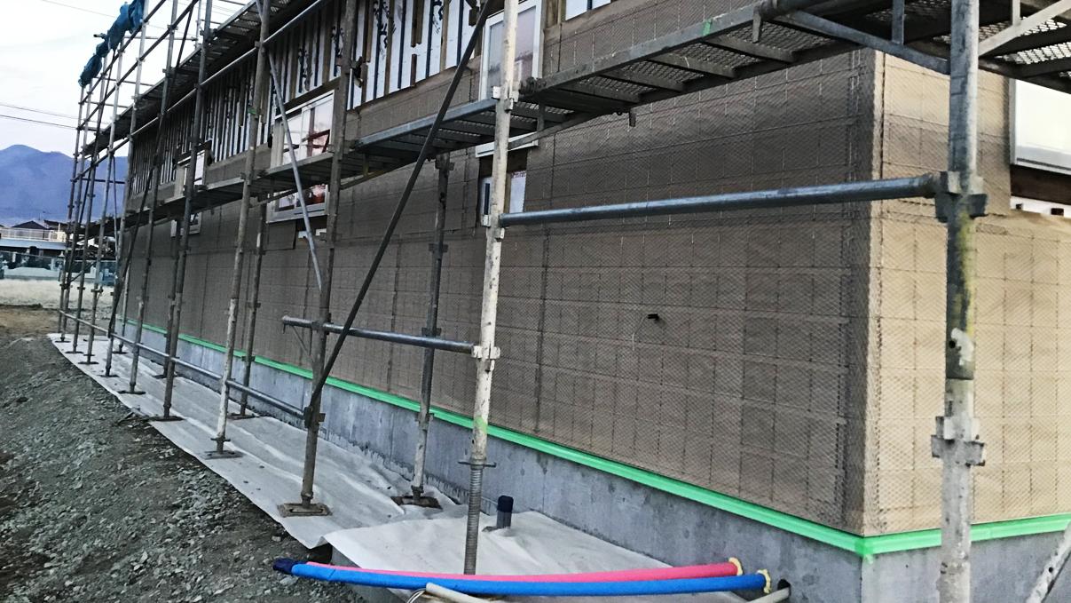 広々フラットハウス 外装工事6