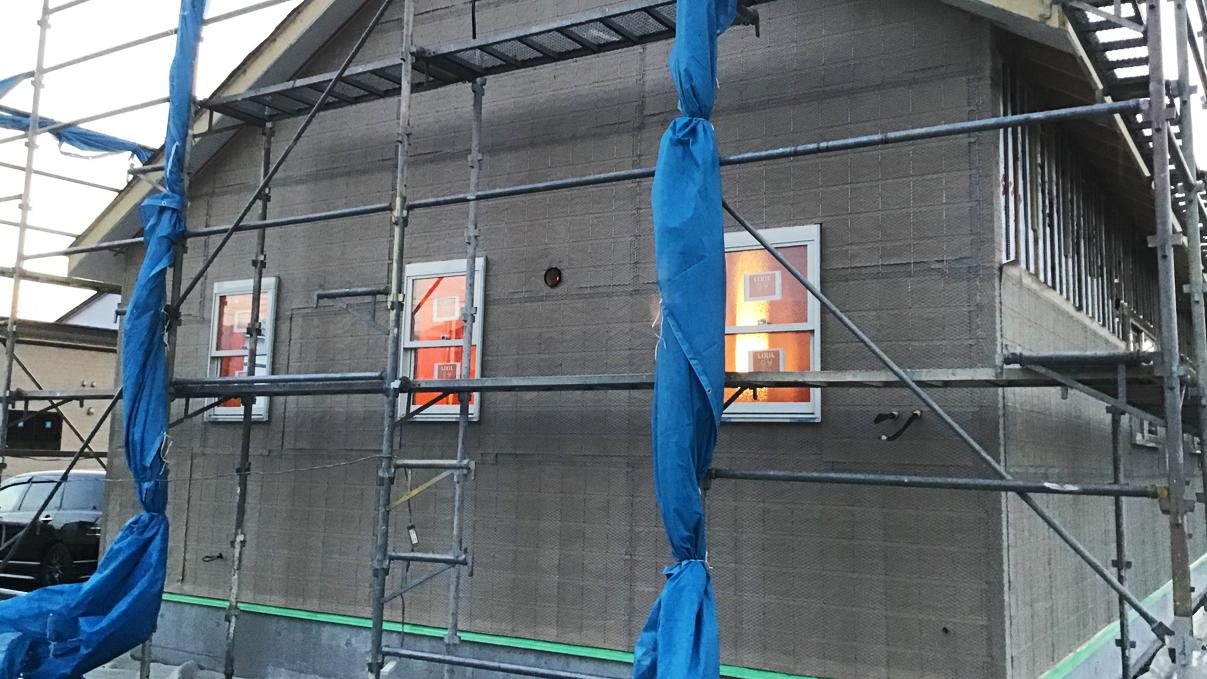 広々フラットハウス 外装工事7
