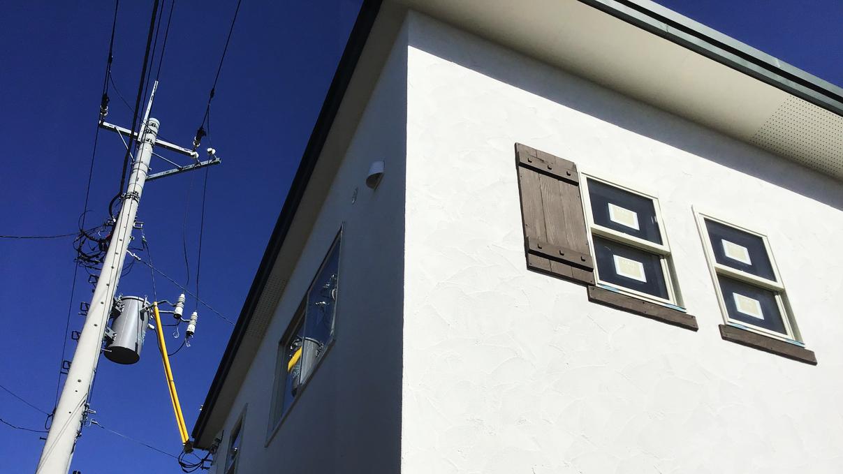 くつろぎのカフェスタイルのお家 外装工事14