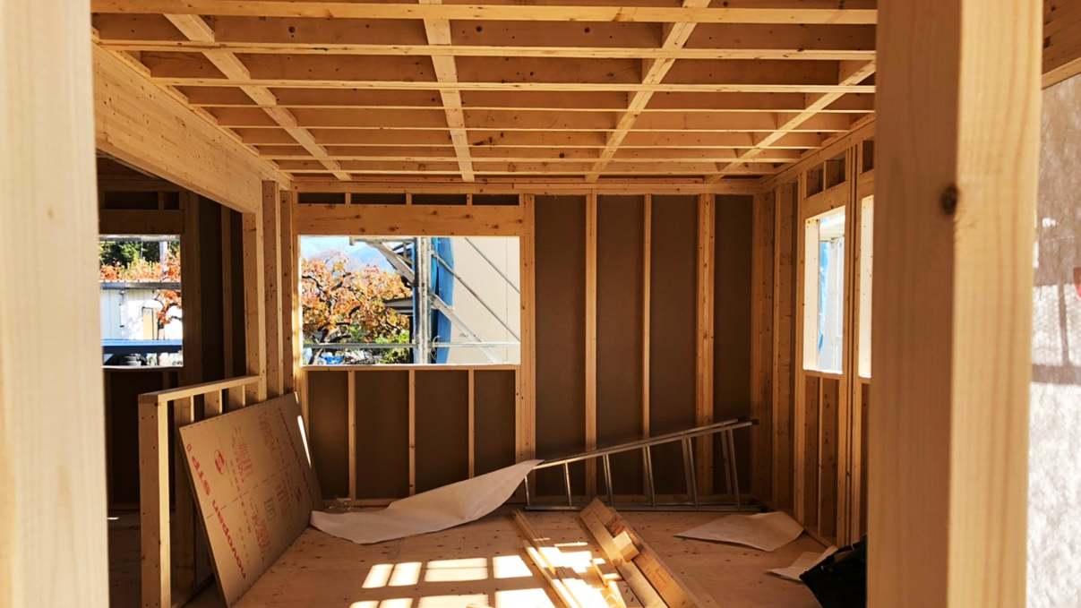 くつろぎのカフェスタイルのお家 上棟工事10