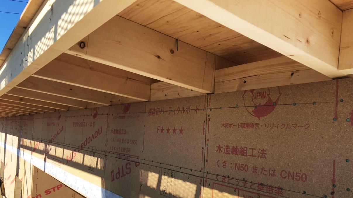 くつろぎのカフェスタイルのお家 上棟工事13